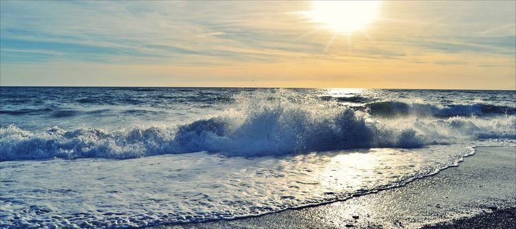 Sonnenuntergang, Meer, Welle, Fotografie, Ende