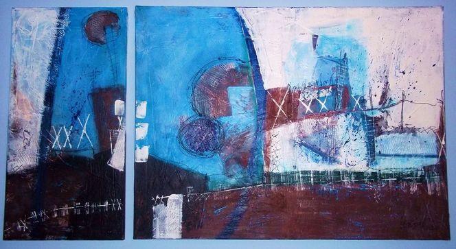 Malerei, Malerei abstrakt, Fabrik, Teil