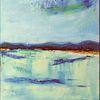 Landschaft, Gewässer, Berge, Malerei