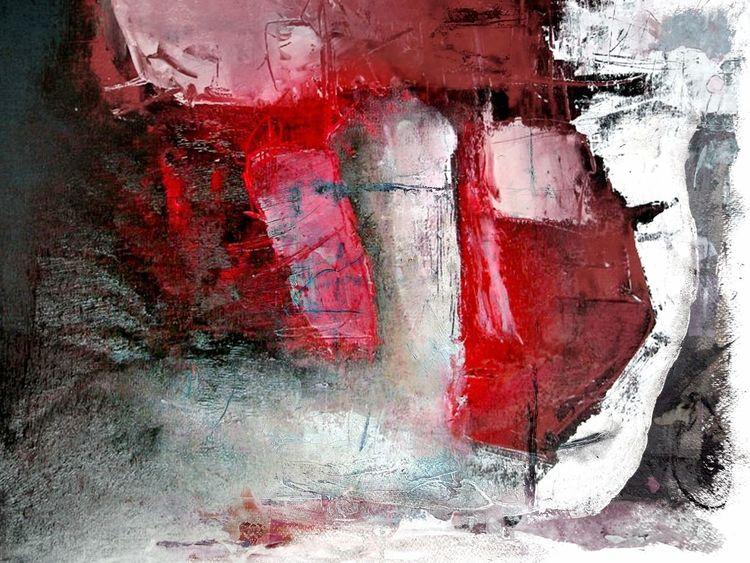 Tusche, Abstrakt, Schicht, Fantasie, Struktur, Acrylmalerei