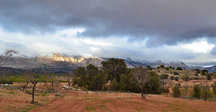 Berge, Reise, Alpujarras, Schnee, Granada, Südspanien