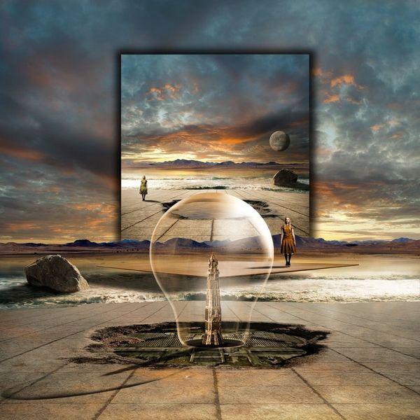 Ozean, Nova, Strand, Galaxie, Universum, Digitale kunst