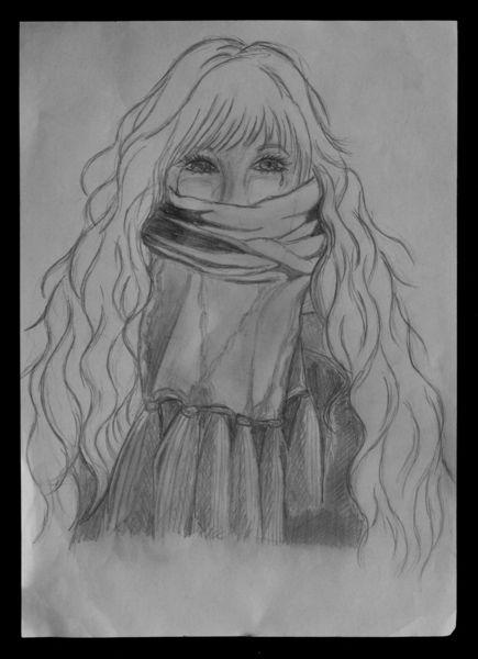 Tränen, Traurigkeit, Einsamkeit, Malerei,