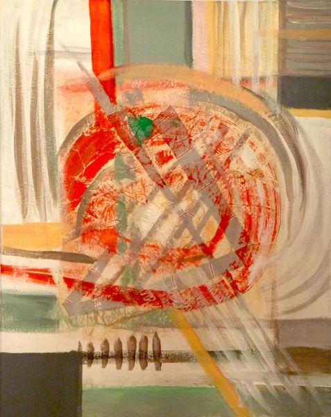 Abstrakt, Acrylmalerei, Abstrakte komposition, Malerei