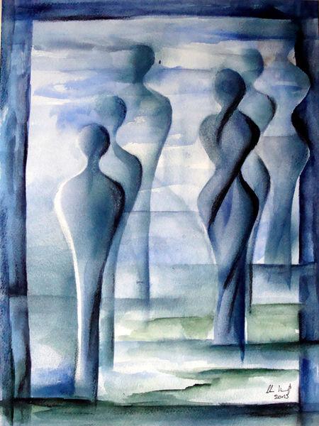 Aquarellmalerei, Malerei, Menschen