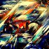 Absraktes bild, Farbiges bild, Moderne kunst, Farben