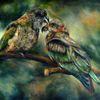 Vogel, Keas, Papagei, Malerei