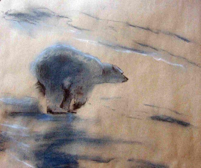 Nordpol, Atelier, Arktis, Eisbär, Atelierb, Tiere