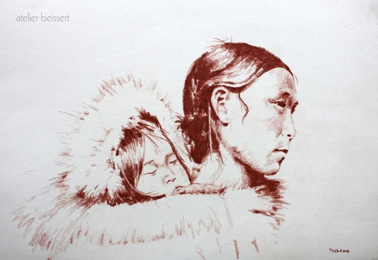 Inuit, Historie, Nordpol, Eskimo, Mutter, Iglu