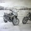 Bmw, Landschaft, Motorrad, Zeichnungen