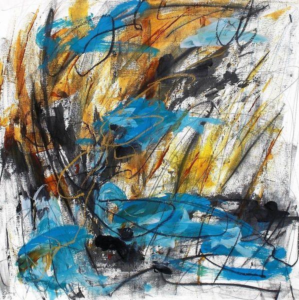 Pastellmalerei, Acrylmalerei, Abstrakt, Malerei,