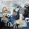 Collage, Expressionismus, Ausdrucksmalerei, Schrift