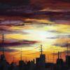 Sonnenuntergang, Stimmung, Abendstimmung, Pastellmalerei