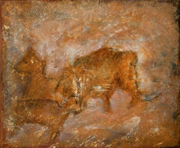 Tiere, Mammut, Felsen, Höhle, Steinzeit, Malerei