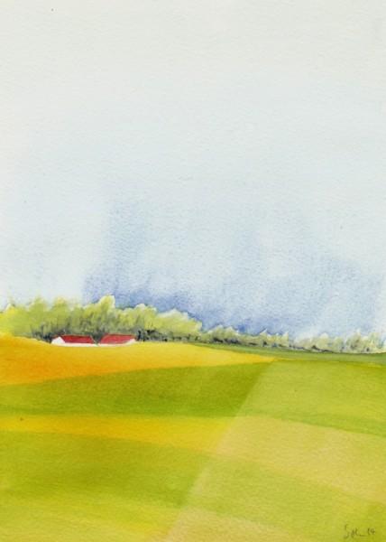 Landschaft, Aquarellmalerei, Aquarell, Aquarell 2014