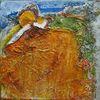 Diverses material, Abstrakt, Acrylmalerei, Malerei