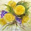 Blumenmalerei, Aquarellmalerei, Stillleben, Malerei