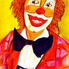 Menschen, Mann, Clown, Portrait