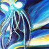 Abstrakt, Meer, Acrylmalerei, Tiere