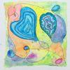 Aquarellfarben, Herz, Abstrakt, Zeichnung