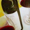 Rotwein, Korken, Flasche, Wein
