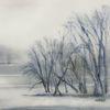 Nebel, Prag, Winter, Moldau