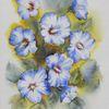 Hibiskus, Aquarellmalerei, Pflanzen, Aquarell