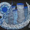 Acrylmalerei, Blau, Malerei, Gemälde