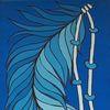 Usa, Malerei, Blautöne, Indianer