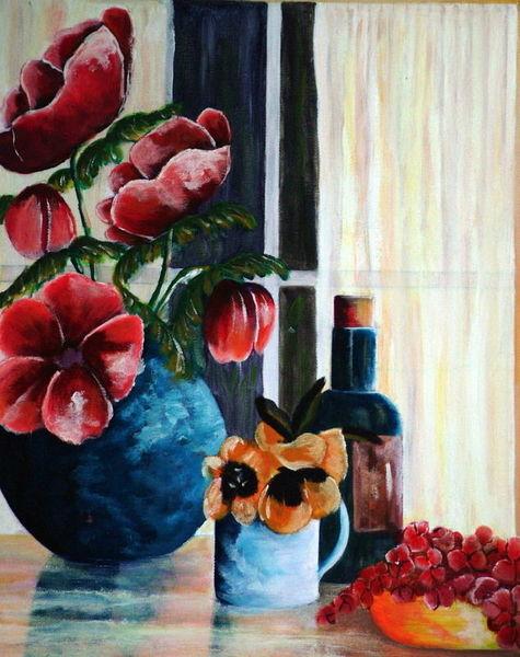 Acrylmalerei, Malerei, Stillleben, Malerei stilleben,