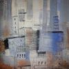 Modern, Abstrakt, Blau, Malerei