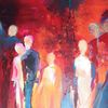 Blau, Acrylmalerei, Modern, Menschen