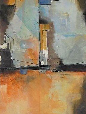 Acrylmalerei, Blau, Terra, Abstrakt, Malerei,