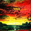 Spachteltechnik, Landschaft, Abstrakt, Malerei