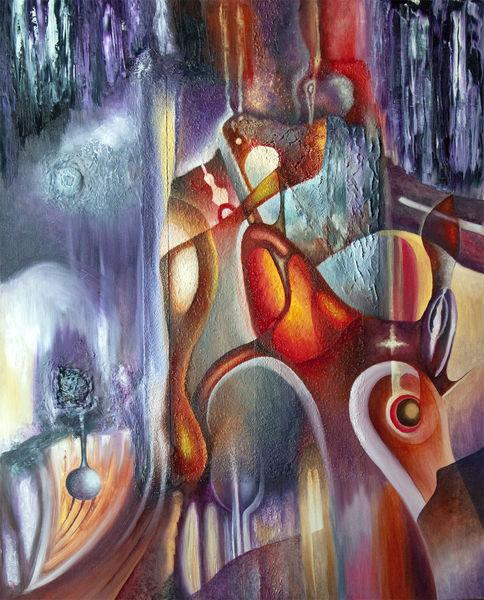 Krypta, Ölfarben, Violett, Malerei