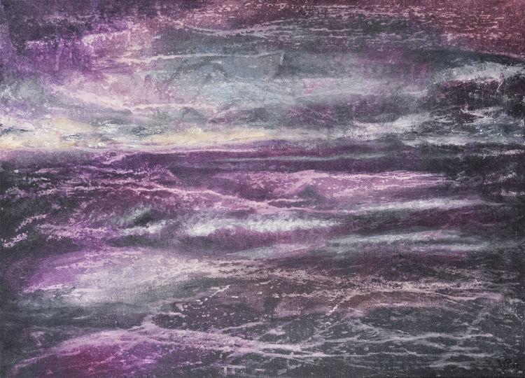 Sturm, Meer, Monochrom, Malerei