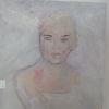 Frau, Struktur, Weiß, Malerei