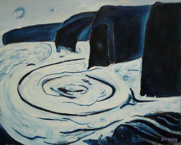 Strudel, Steilküste, Abend, Natur, Blau, Energie
