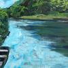 Wasser, Fluss, Doubs, Malerei