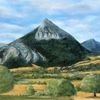 Baronnies, Berge, Landschaft, Malerei