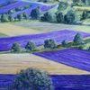 Landschadft, Lavendel, Provence, Malerei