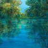 Wasser, Spiegelung, See, Malerei