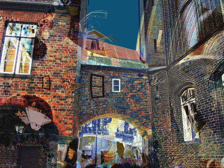 Outsider art, Tor, Stadt, Stadttor, Digitale kunst, Digital