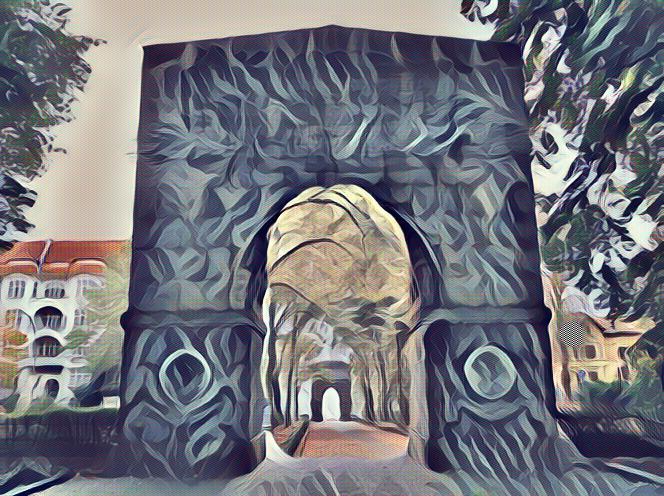 Tor, Balkon, Haus, Luft, Digitale kunst, Weg