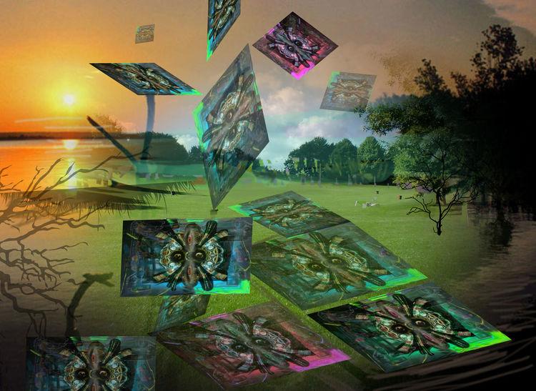 Outsider art, Digitale kunst, Collage, Gravitation, Gedanken