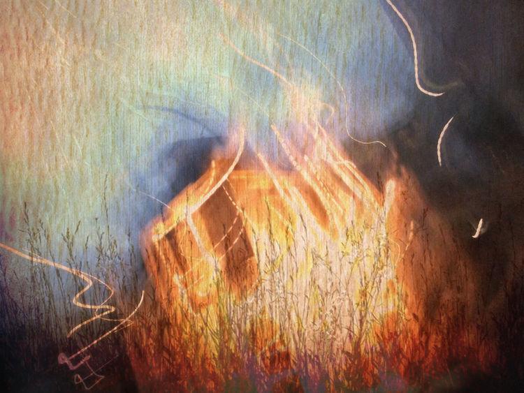 Stroh, Strohfeuer, Feuer, Outsider art, Digitale kunst