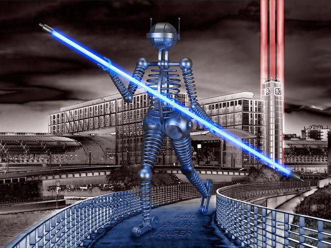 Rollschuhfahrer, Glühende, Stadt, Science fiction, Inline, Visualisierungen