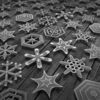Holzboden, Schneeflocken, Hexagonal, Stahl