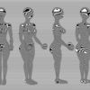 Skulptur, Kurvig, Ballspieler, Frau