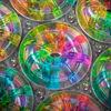 Spektralfarbe, Glanz, Glas, Anordnung